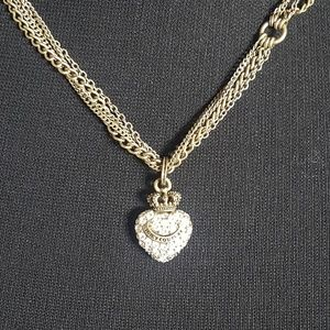 Juicy Couture Gold Rhinestone Multichain Necklace